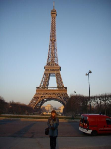 Me in paris at the Eiffel tower