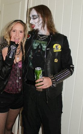 Mr and the former Mrs. Kulde last Halloween