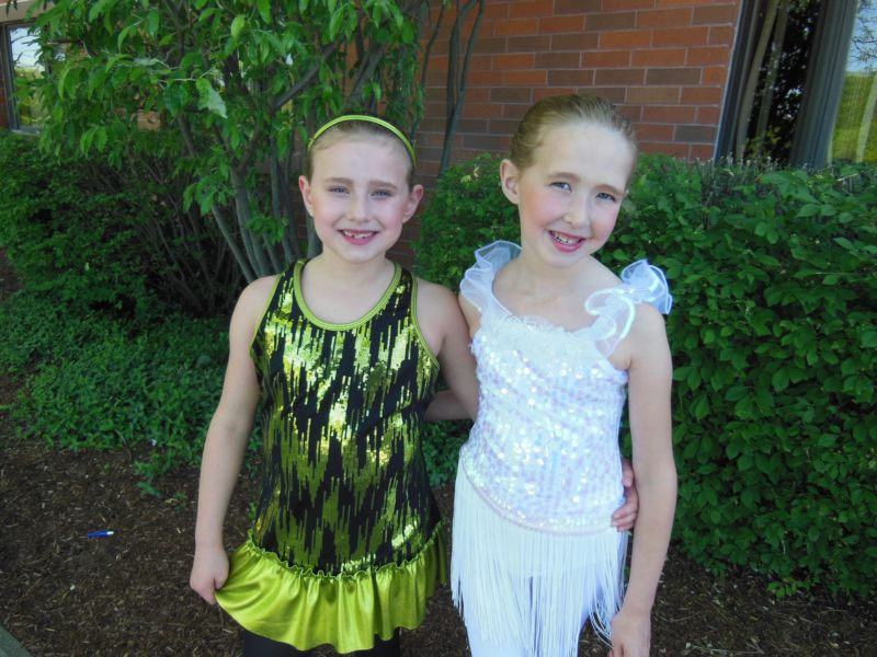 My girls at their dance recital
