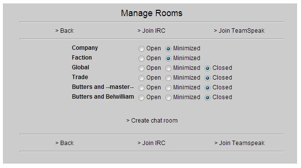 manage rooms page